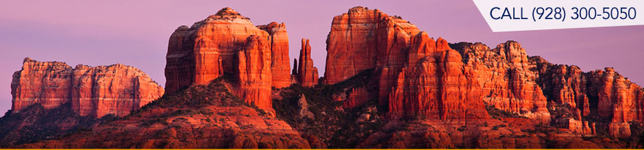 View of Cathedral Rock from the Red Rock Loop area of Sedona Arizona